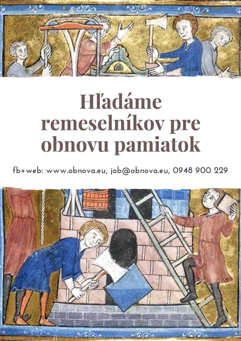Voľné pracovné pozície v Obnove