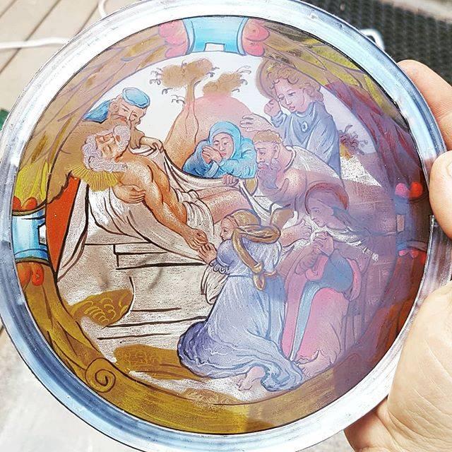 Maľované terče vo vitrážach Oravského hradu