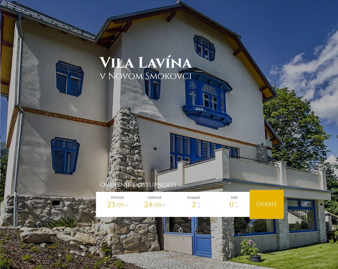 Tatranská Vila Lavína žije
