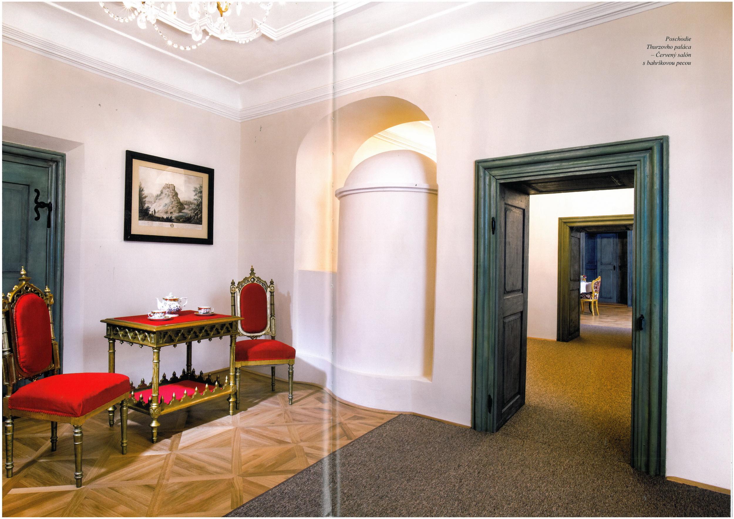Pre múzeum sme dodávali naše ľanové farby, ktoré dnes zdobia dvere paláca.