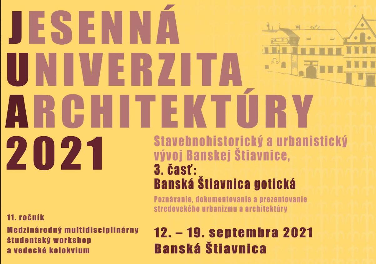 Program podujatia  Jesennej univerzity architektúry 2021